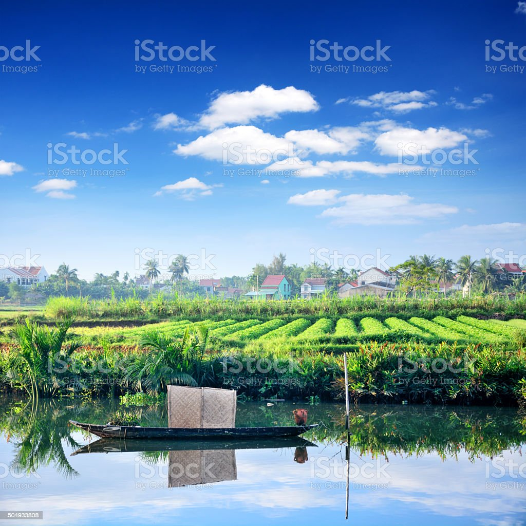 Rural landscape, Vietnam stock photo