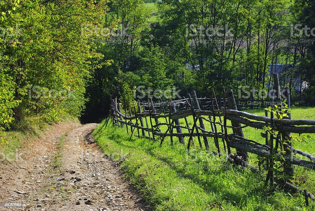 Paesaggio rurale con strada foto stock royalty-free