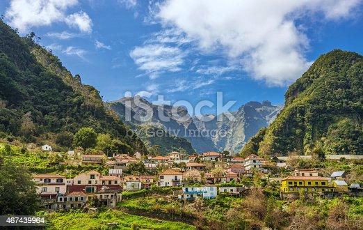 Beautiful rural Madeira landscape.