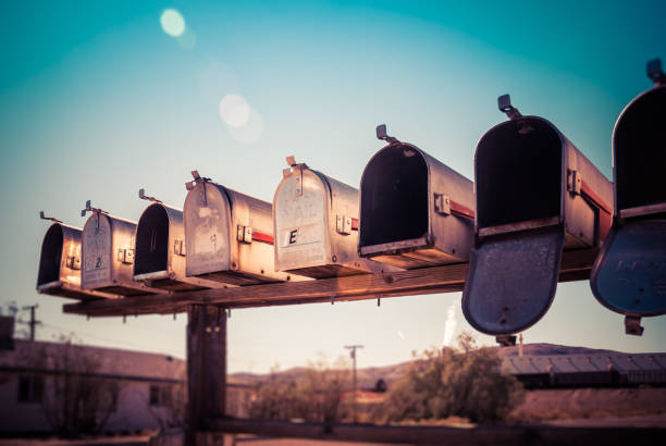 rural mail boxes - mail stock photos and pictures
