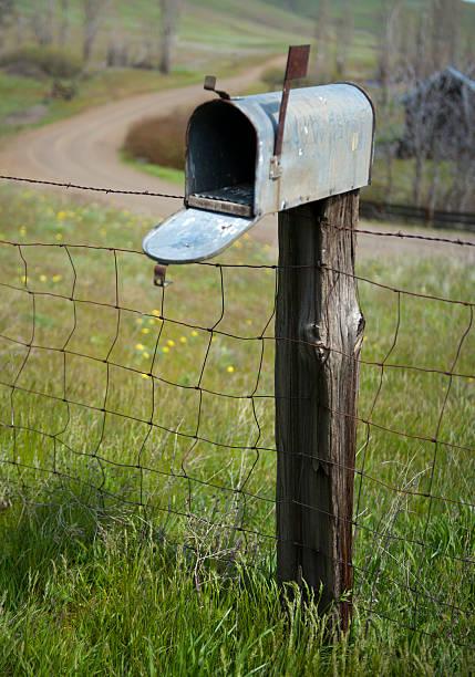 Rural Mailbox stock photo