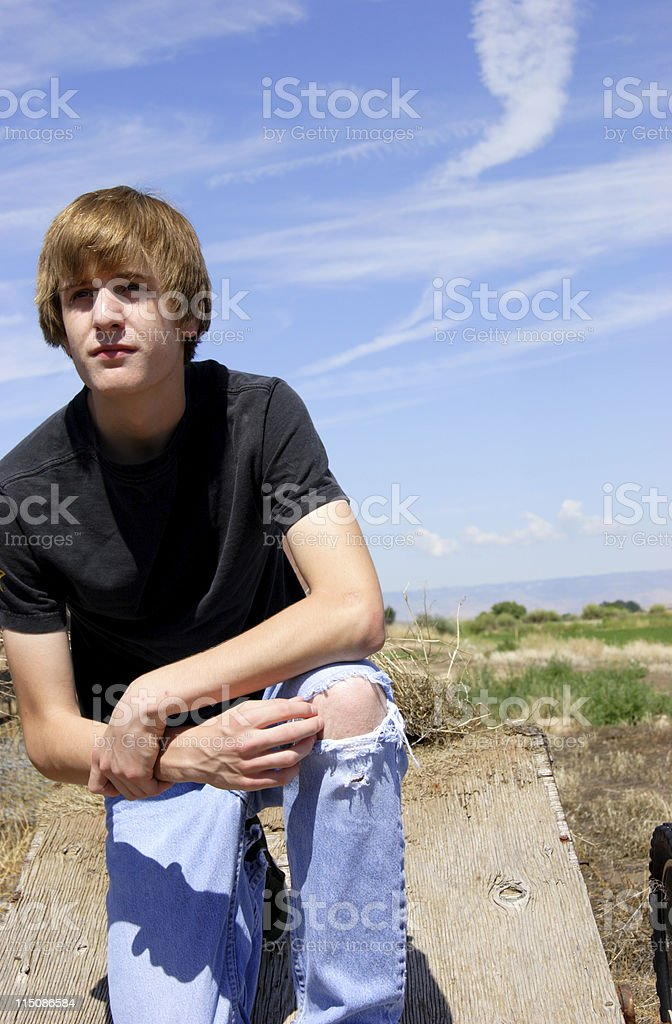 rural male teen portrait royalty-free stock photo
