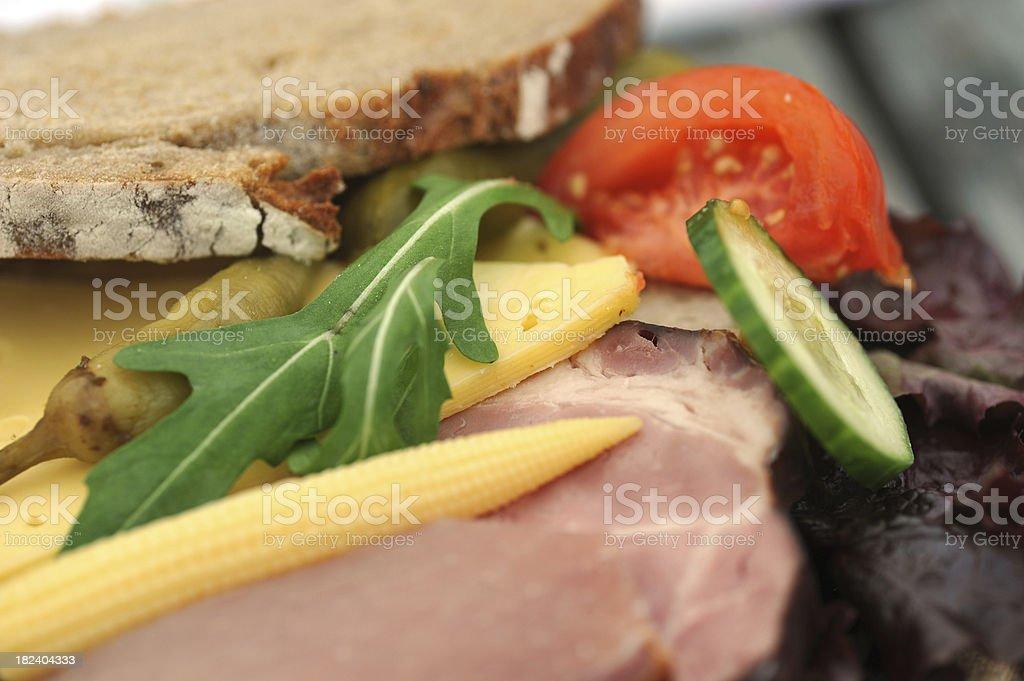 rural meal - Brotzeitbrett royalty-free stock photo