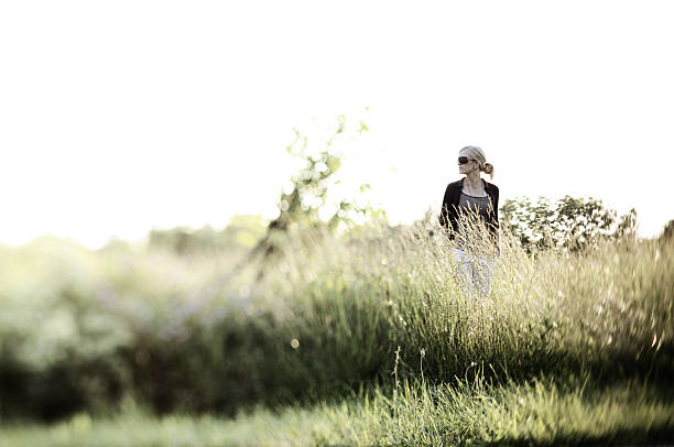 rural middle-aged woman stock photo