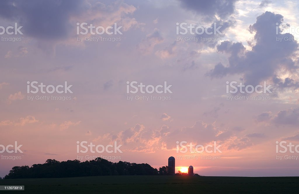 Rural Midwest farmland skyscape. royalty-free stock photo