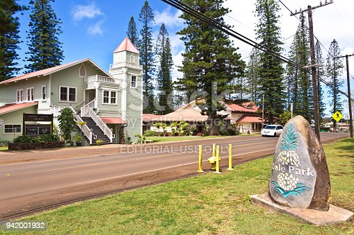 A rural church in Lanai City on the island of Lanai in Hawaii.