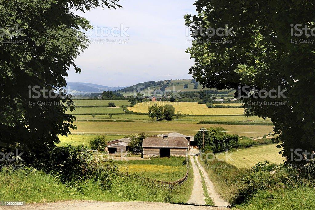 Rural north Herefordshire, England stock photo
