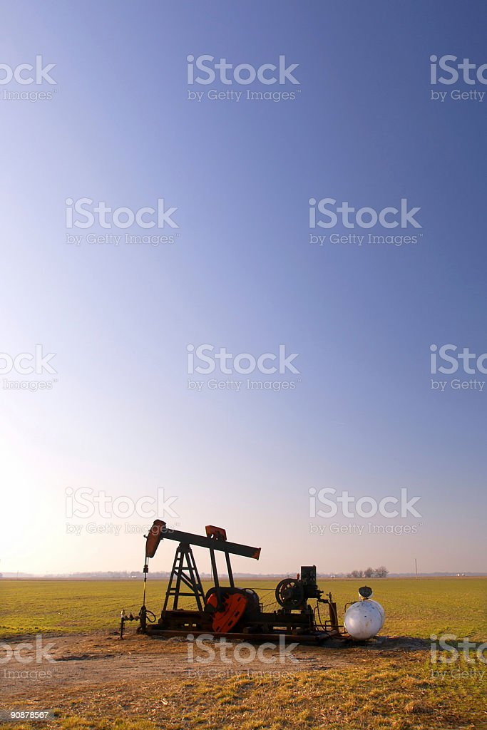 rural oil rig royalty-free stock photo