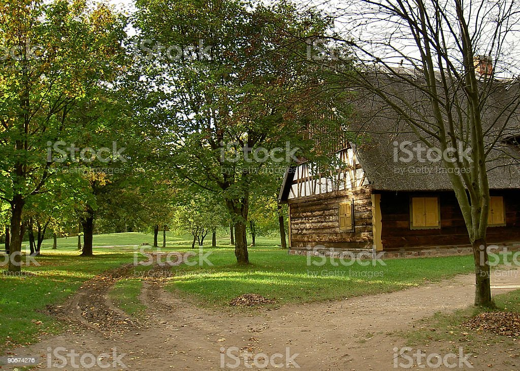 rural paths stock photo