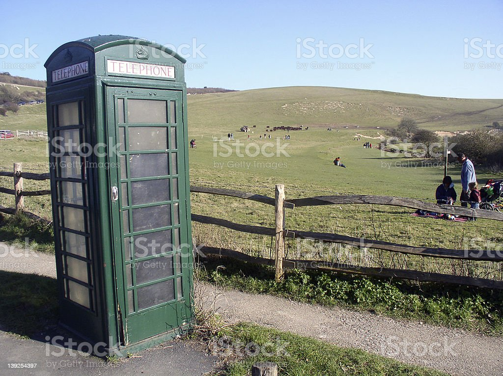 Rural phonebox royalty-free stock photo