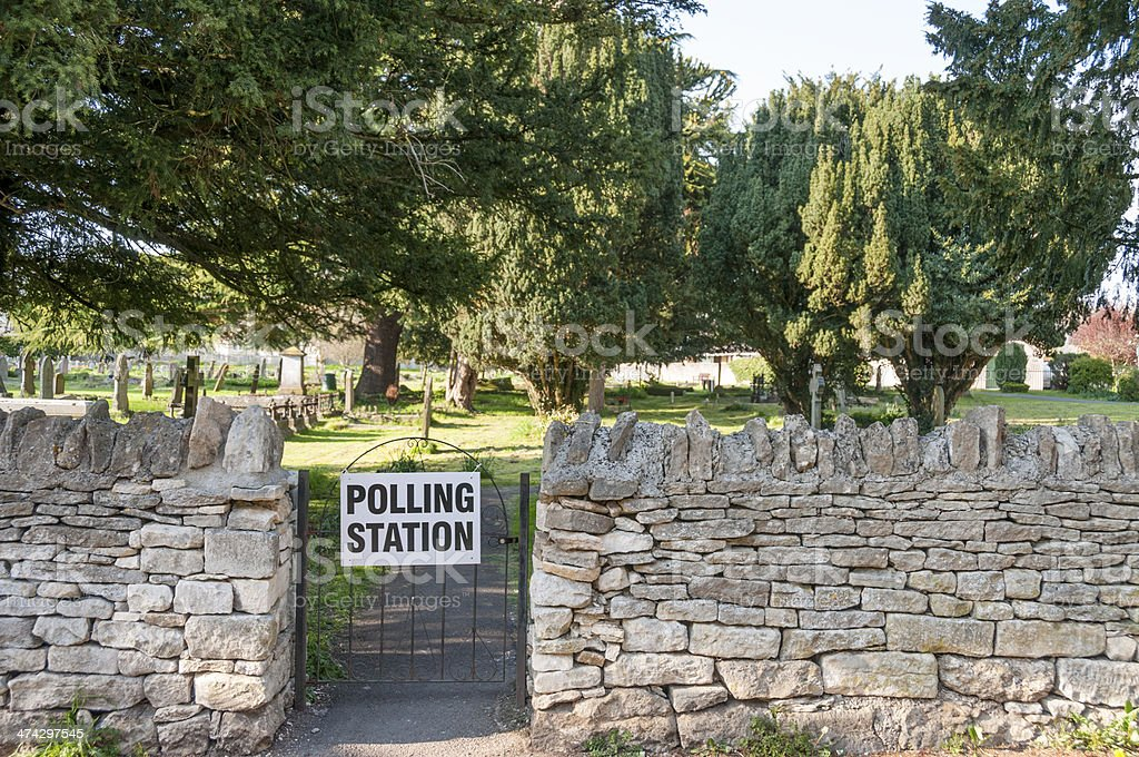 Rural Polling Station In The UK royalty-free stock photo