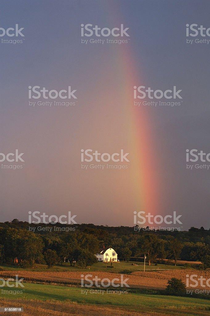 rural rainbow royalty-free stock photo