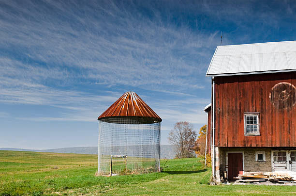Rural; Red Barn stock photo