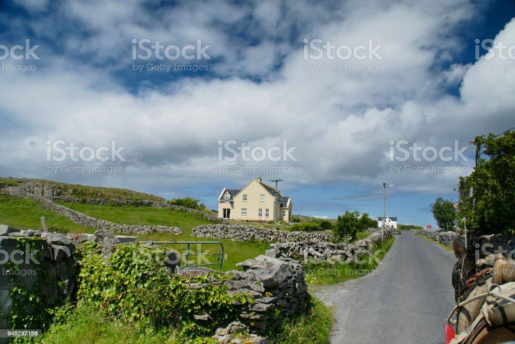 Rural Road, Inishmore, Aran Islands stock photo