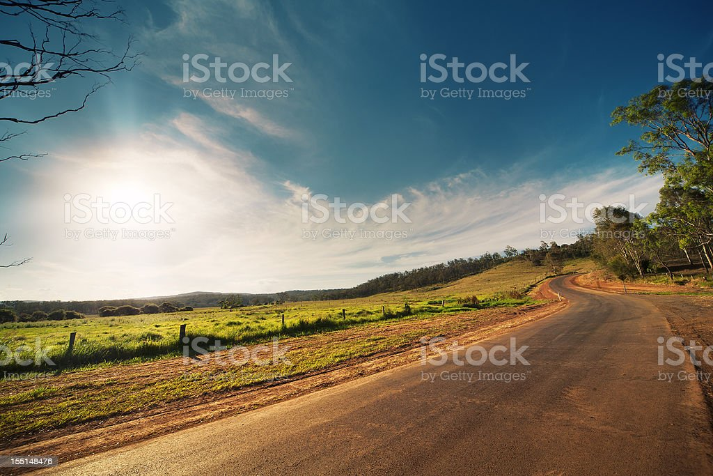 Rural Road - Royalty-free Agricultural Field Stock Photo