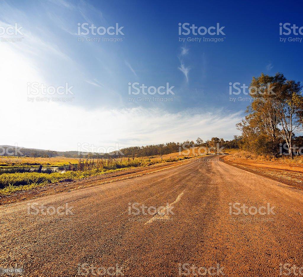 Rural Road royalty-free stock photo