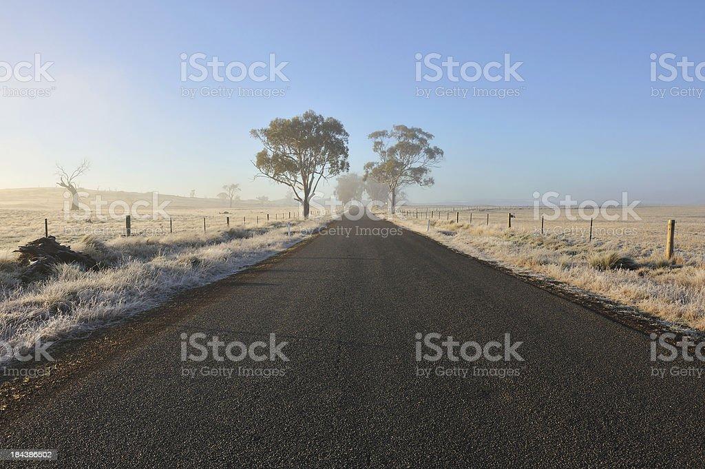 Rural road, Tasmania, royalty-free stock photo