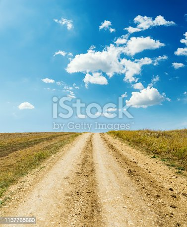 1155573645istockphoto rural road to horizon and blue sky with clouds 1137765660