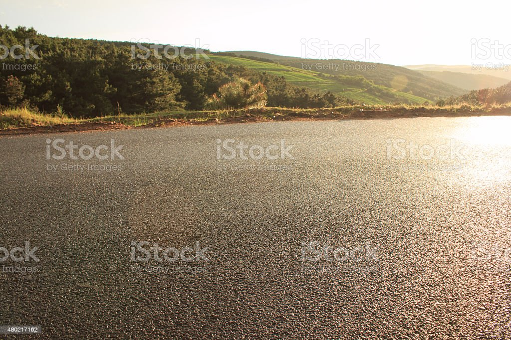 rural roads stock photo