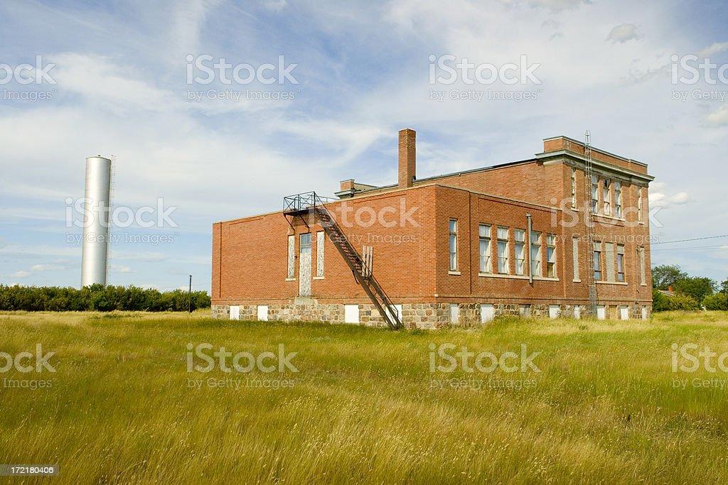 Rural saskatchewan town royalty-free stock photo