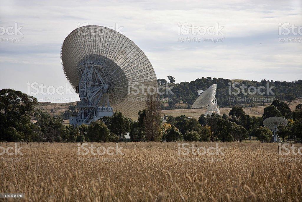 Rural Satellite Dishes stock photo
