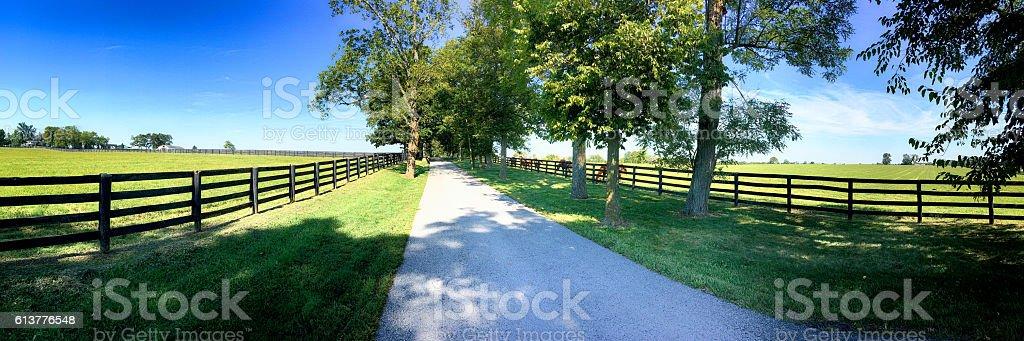 Rural scene around Midway/ Versailles area near Lexington KY stock photo
