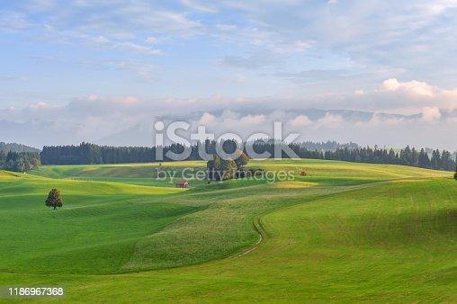 istock Rural scene at dusk in Unterammergau, Germany 1186967368