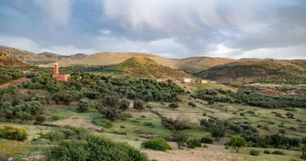 Rural scene, Atlas Mountains, Morocco stock photo