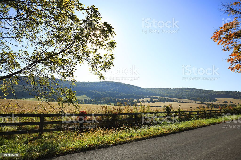 Rural Scene - Early Autumn royalty-free stock photo