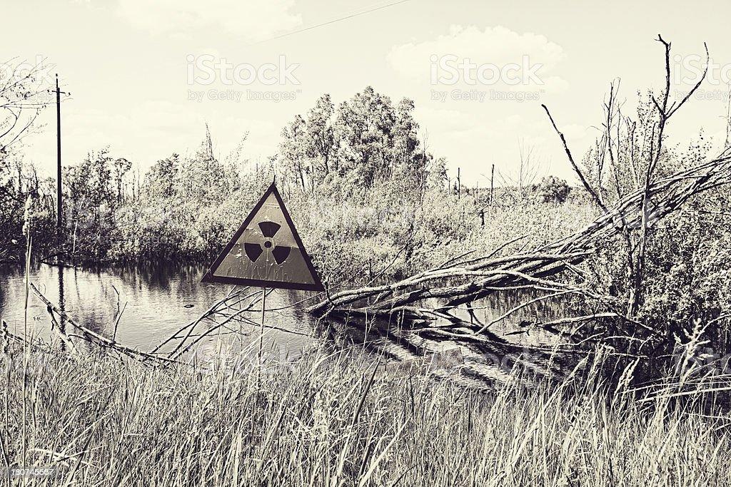 Rural Scene from Pripyat stock photo