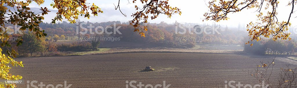 Rural scene in autumn, Provence, France royalty-free stock photo