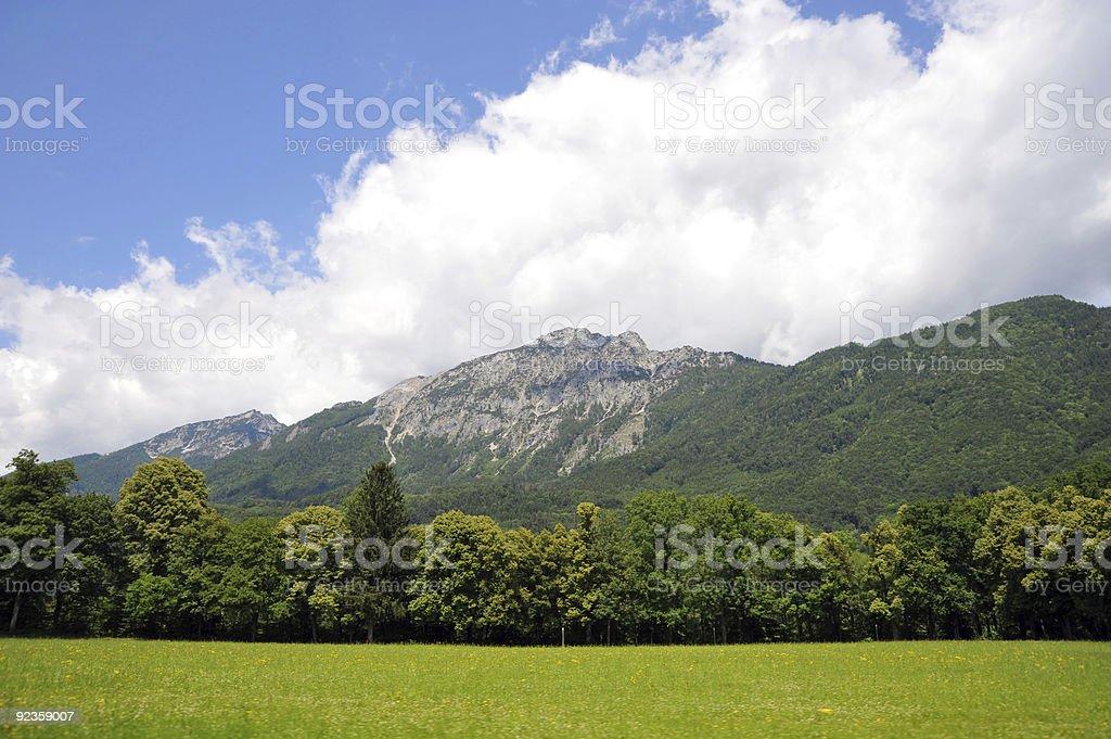 Rural Scene in European Alps royalty-free stock photo