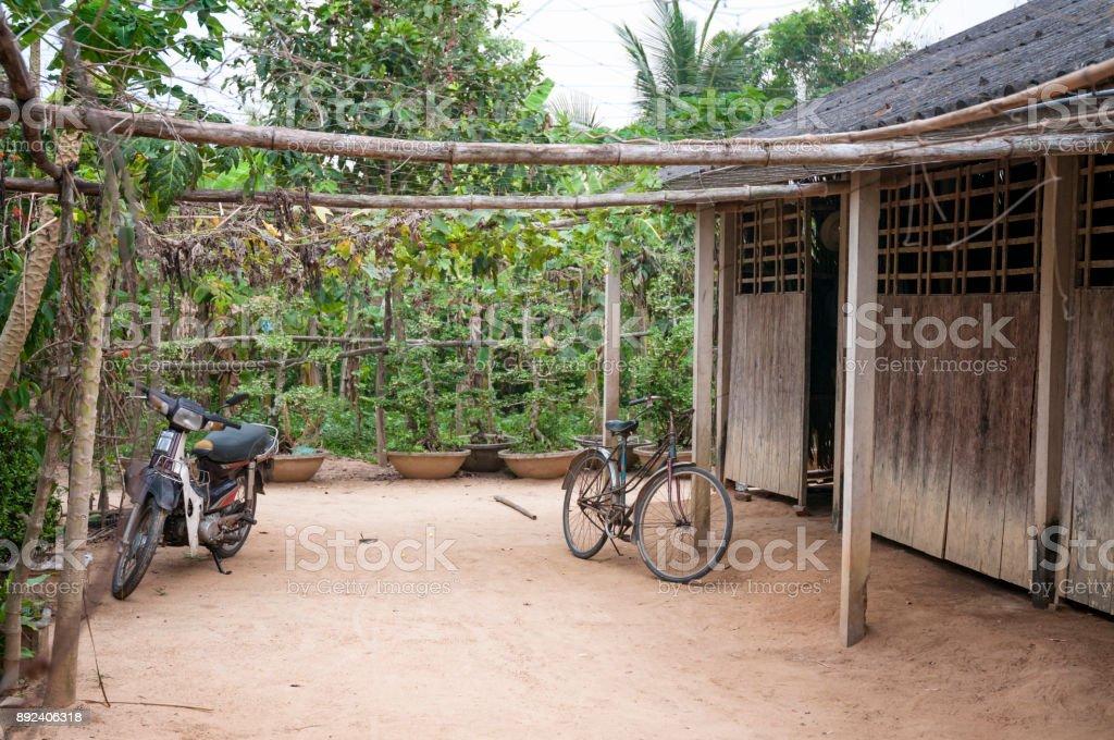 Rural Scene In My Tho, Vietnam stock photo