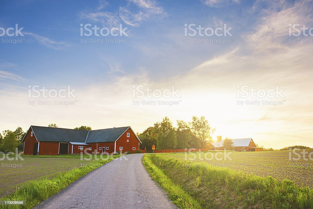 Rural scene in Sweden stock photo