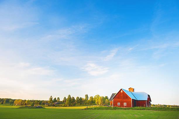 Rural scene in Sweden stock photo