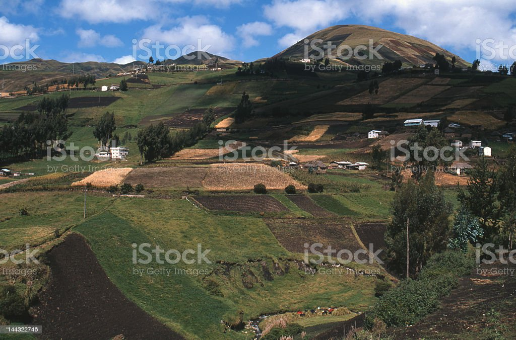 Rural scene near Riobamba Ecuador stock photo