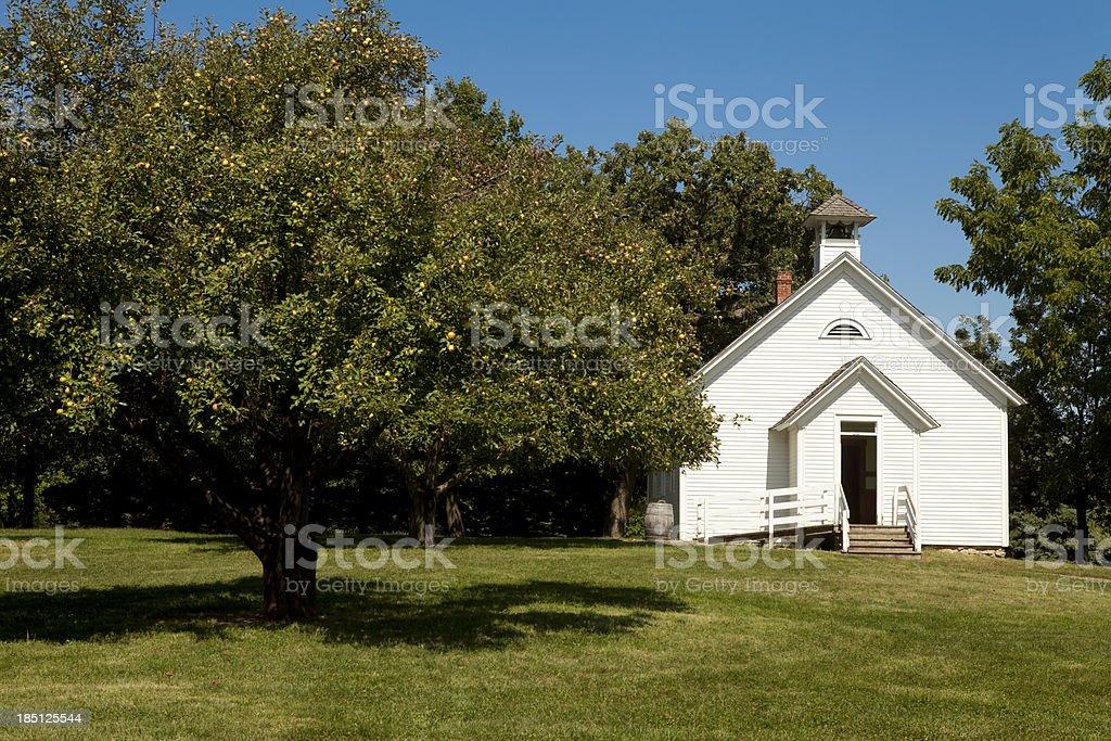 Rural Schoolhouse stock photo