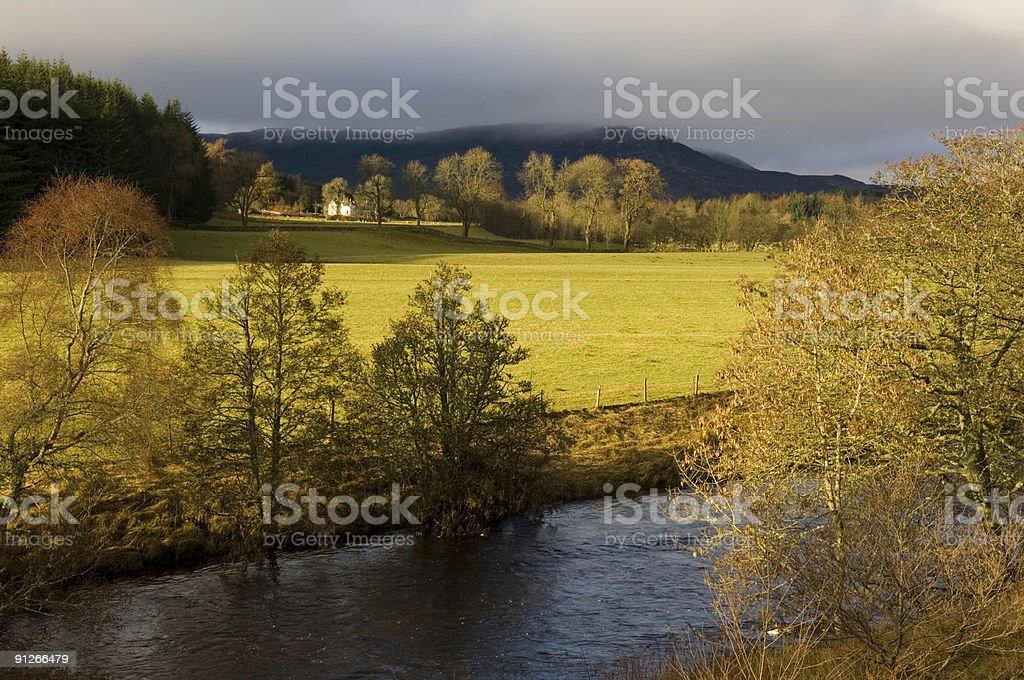 Rural Scotland royalty-free stock photo