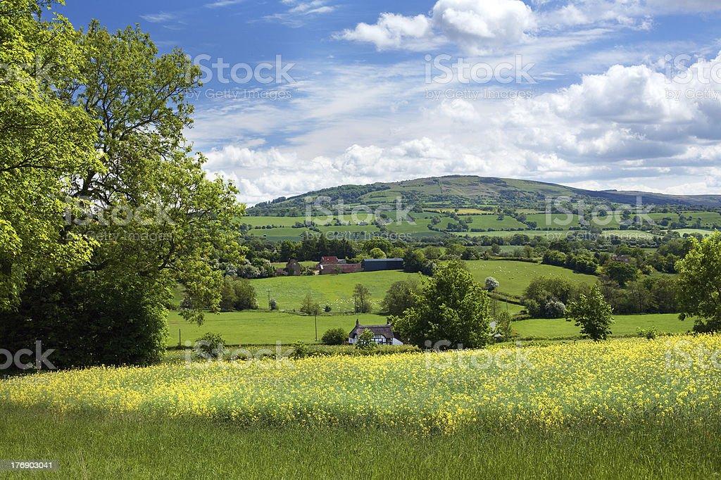 Rural Shropshire stock photo