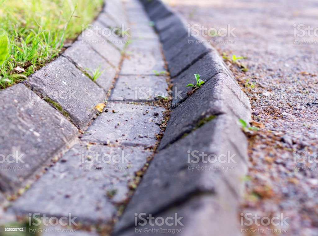 rural stone ditch. background. stock photo