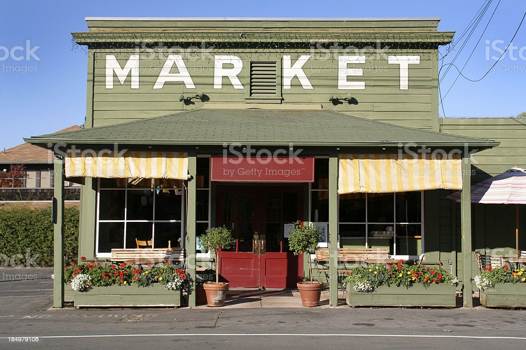 Rural Store Market Building in Country Small Town America stock photo