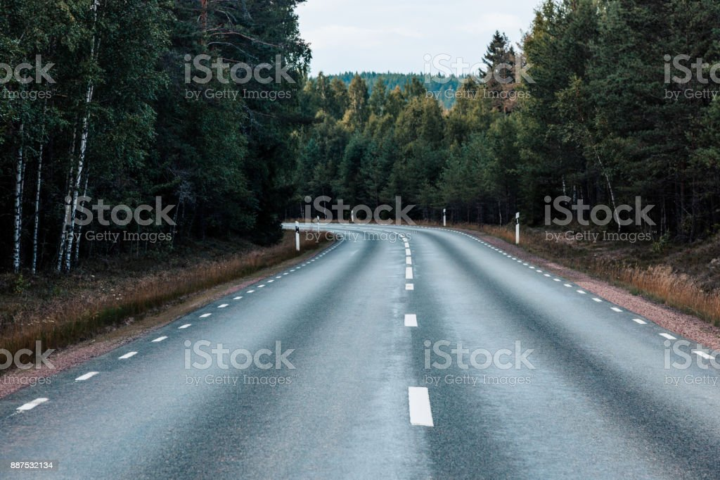 Rural Street in Sweden stock photo