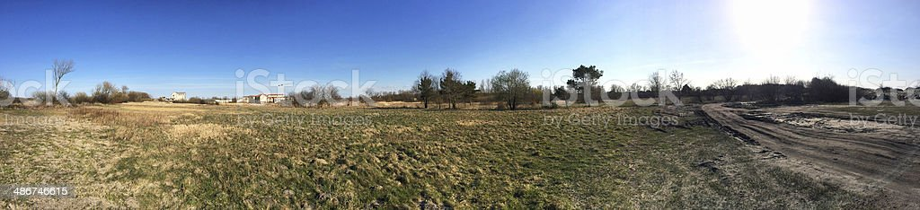 rural suburb panorama royalty-free stock photo