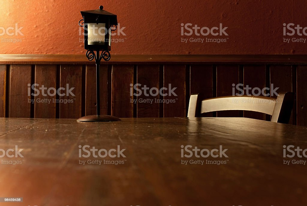 Rural Table And The Chandelier royalty-free stock photo
