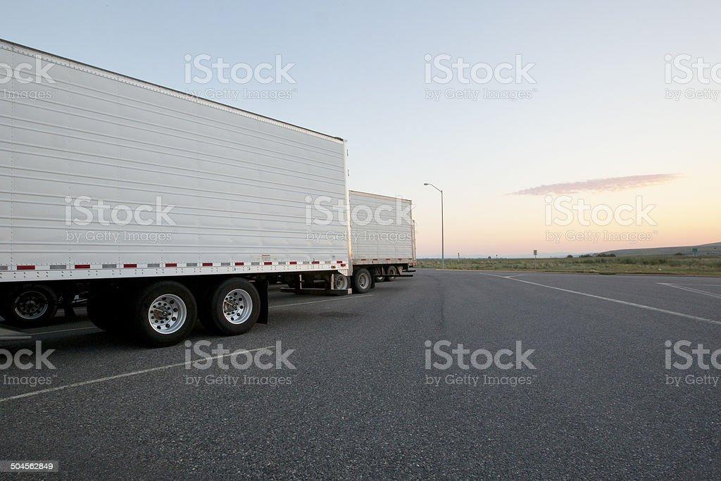 Rural Truck Stop stock photo
