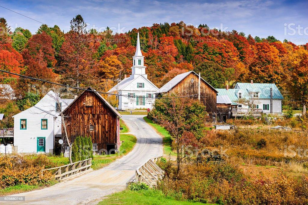 Rural Vermont in Autumn stock photo