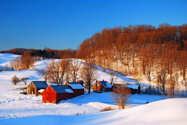 Ländliches Vermont im Winter – Foto