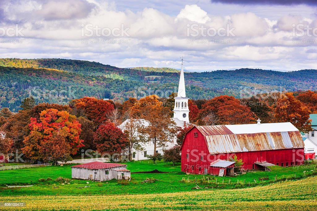 Rural Vermont USA royalty-free stock photo