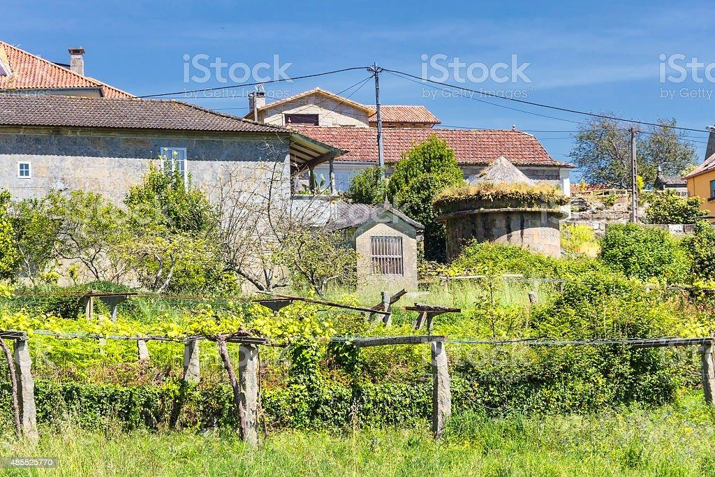Rural village royalty-free stock photo