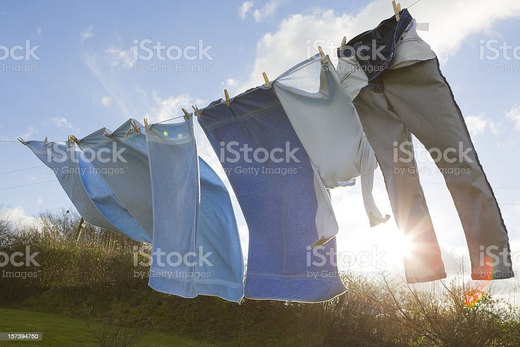 Rural Washing Line stock photo